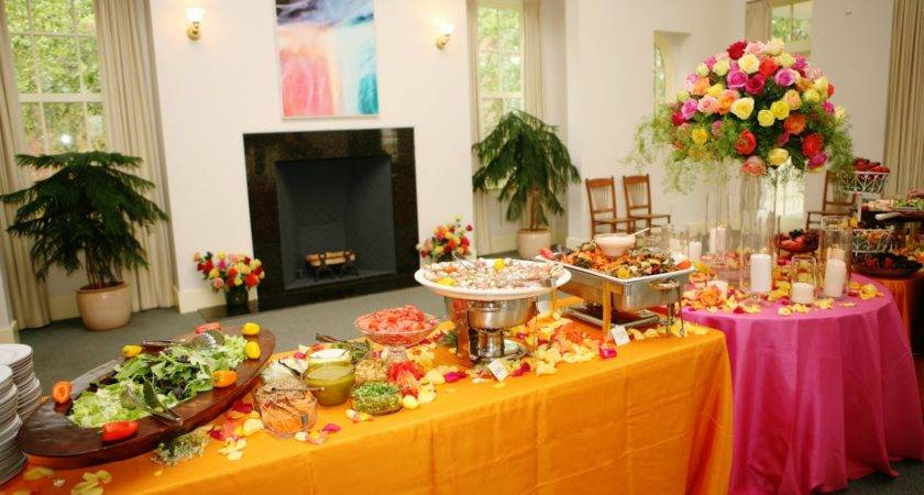 Campy Wedding Style Buffet Food Table