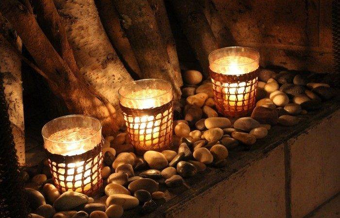 Candle Displays Fireplaces Beautiful Styles
