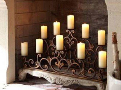 Candle Displays Fireplaces Lovely Designs Ideas