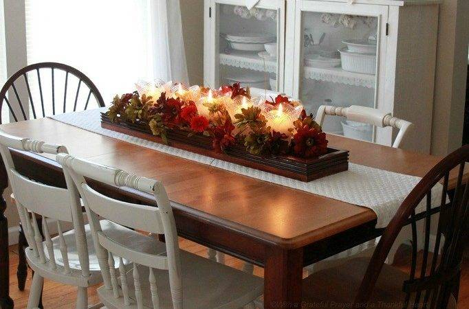 Candle Flower Dining Table Centerpiece Ideas