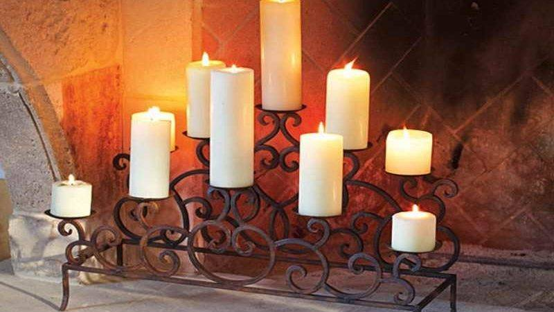 Candle Holders Fireplace Designs