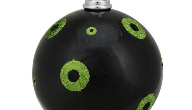 Candy Black Lime Green Glitter Polka Dots Commercial