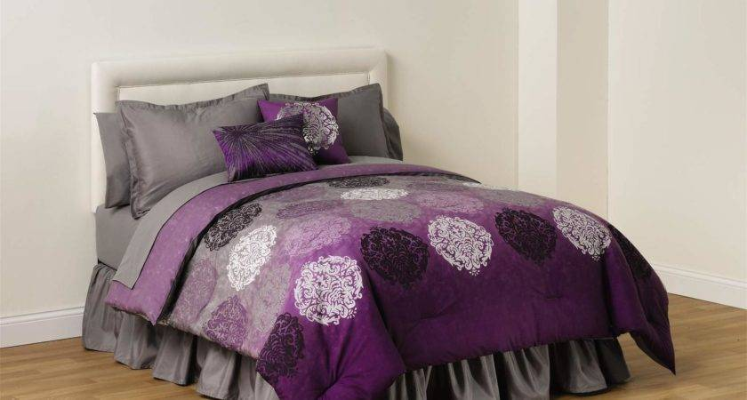 Cannon Reversible Comforter Plum Ombre Home Bed