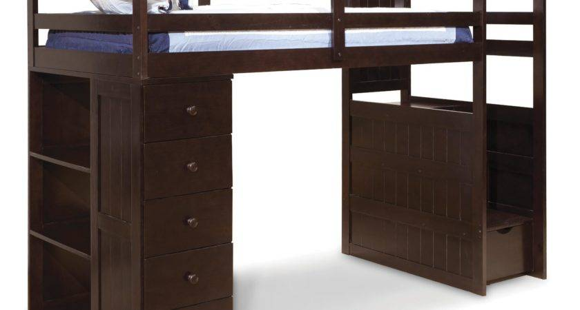 Canwood Mountaineer Twin Loft Bed Storage