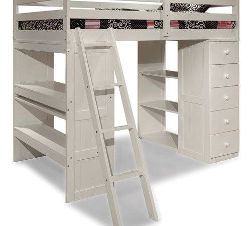 Canwood Skyway Twin Loft Bed Desk Storage Tower