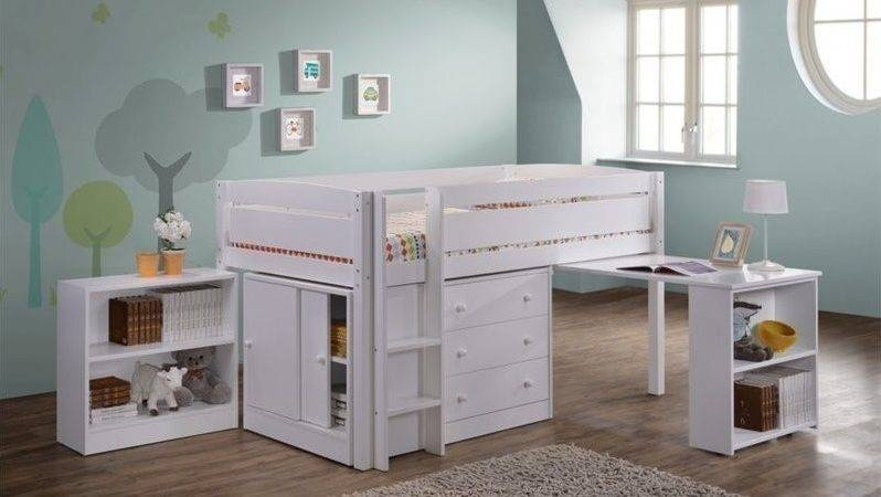 Canwood Whistler Junior Wood Loft Bunk Bed White