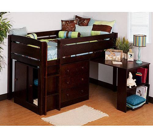 Canwood Whistler Storage Loft Bed Desk Bundle