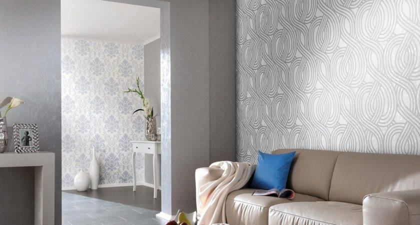 Carat Geometric Glitter Stripes Feature Wall