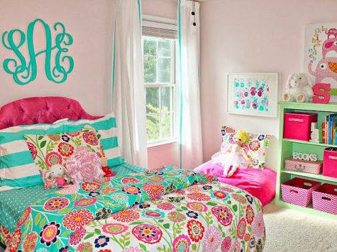 Carolina Mind Turquoise Pink Big Girl Bedroom