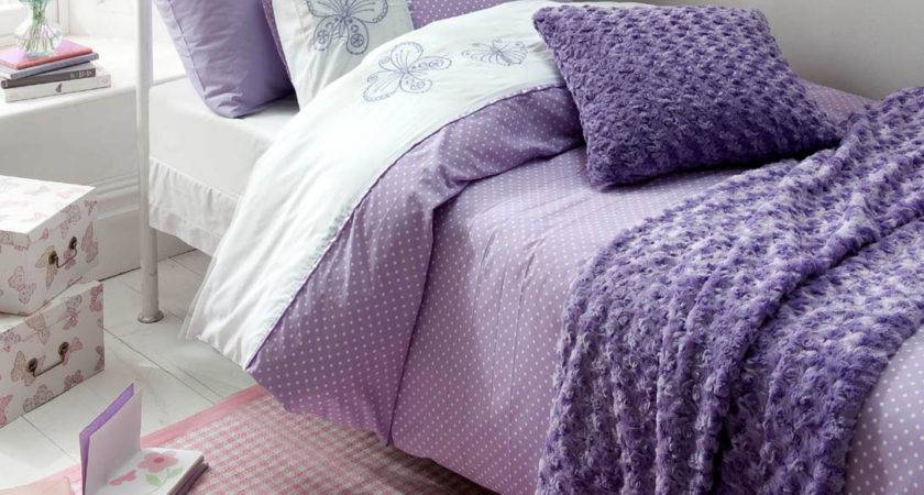 Catherine Lansfield Flutterbye Lilac Bedding Set Next