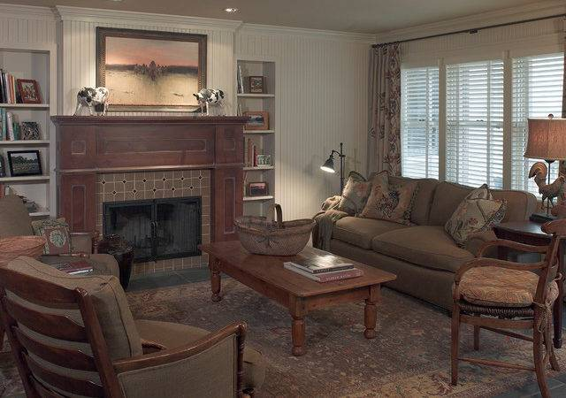 Century Old Farmhouse Rustic Living Room Minneapolis