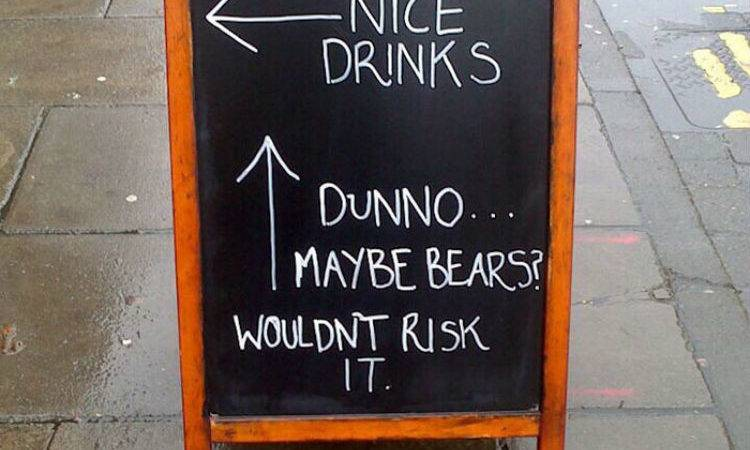 Chalk Funniest Chalkboard Pub Signs