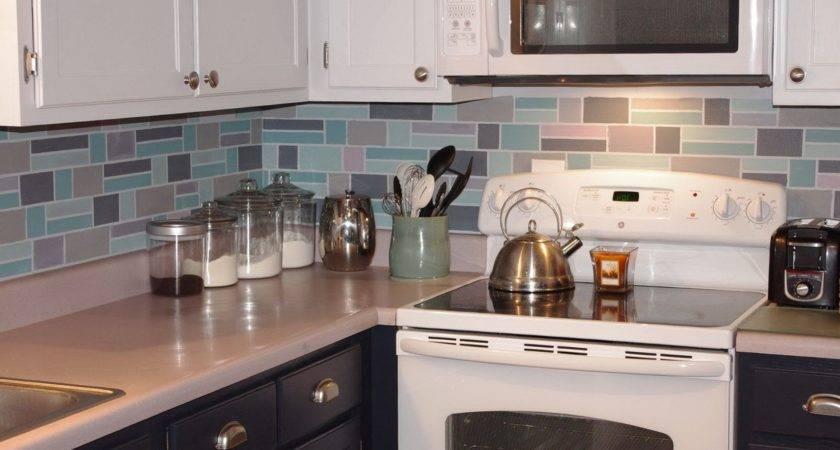 Chalkboard Kitchen Backsplash Green