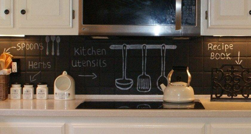 Chalkboard Kitchen Backsplash Ideas