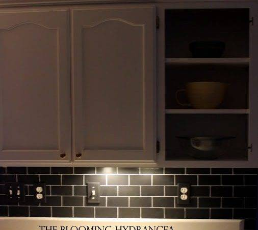 Chalkboard Subway Tile Backsplash Kitchen
