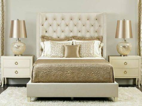 Champagne Dream Salon Upholstered Bed Traditional