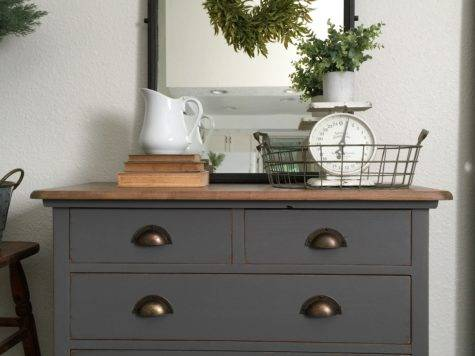 Charcoal Gray Dresser Sweet Little Note Farm