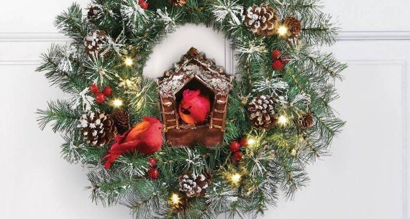 Charming Lighted Bright Red Cardinal Birdhouse Christmas