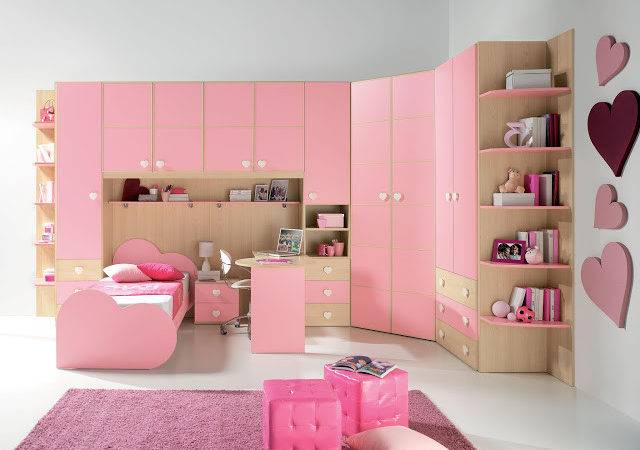 Charming Pink Theme Living Room Bedroom Kitchen