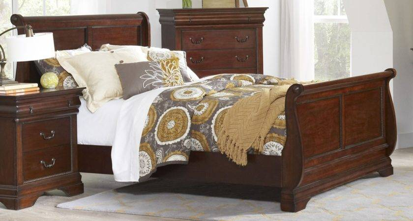 Chateau Vintage Cherry Youth Sleigh Bedroom Set Largo
