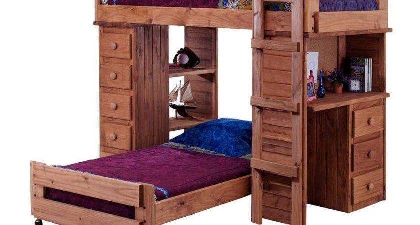 Chelsea Home Mahogany Stain Student Loft Bed