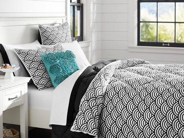 Chic Black White Bedding Teen Girls
