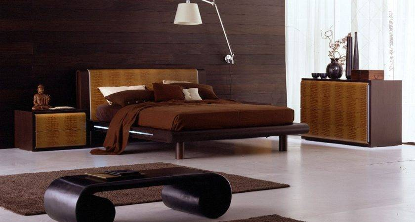 Chic Brown Wooden Bedframe White Bedroom Furniture Matched