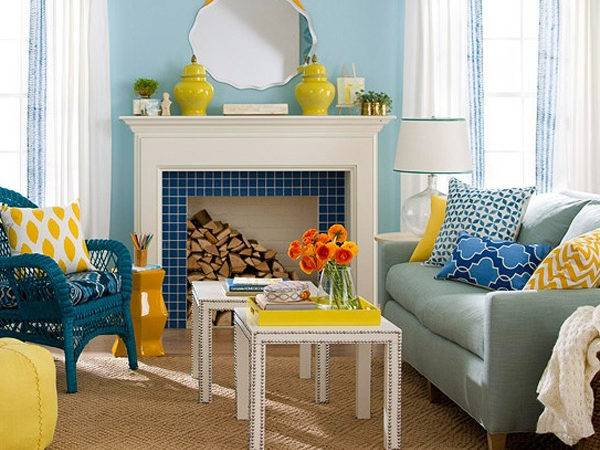 Chic Colorful Spring Living Room Decorations
