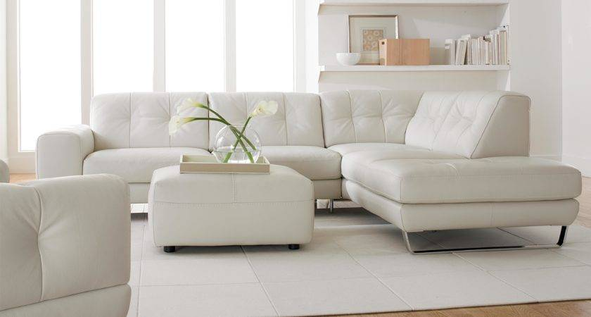 Chic Floating Shelves White Tufted Sectional