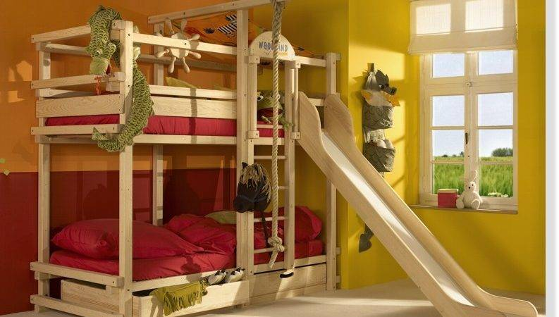 Childrens Bunk Beds Slide Interior Decorating