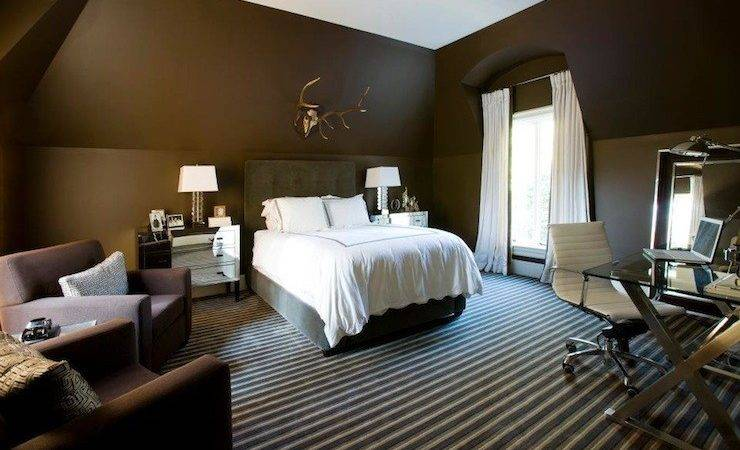Chocolate Brown Bedroom Contemporary Melanie