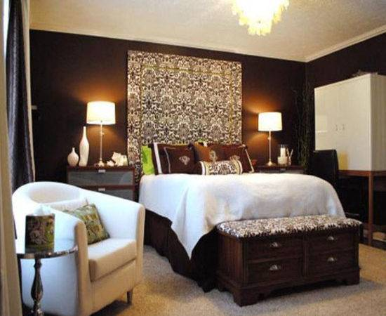 Chocolate Brown Bedroom Ideas Accent Walls Small