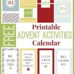 Christmas Advent Activities Scripture Calendar