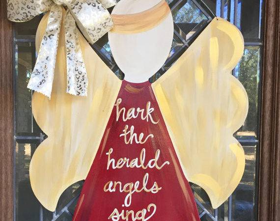 Christmas Angel Door Sign Hanger