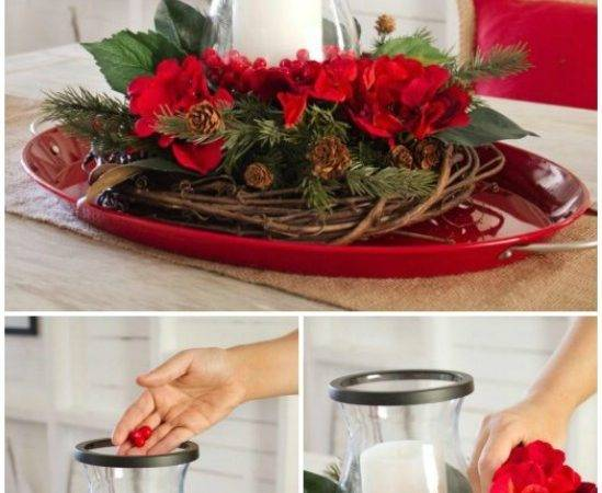 Christmas Centerpieces Candles Homesfeed