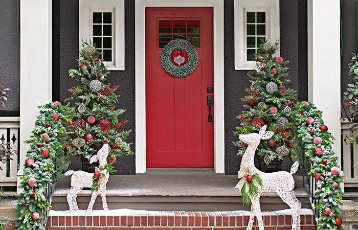 Christmas Decor Front Porches