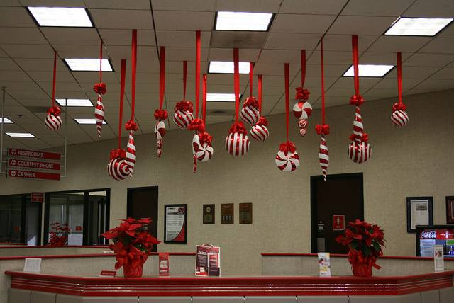 Christmas Decoration Guy Hanging Roof Ideas