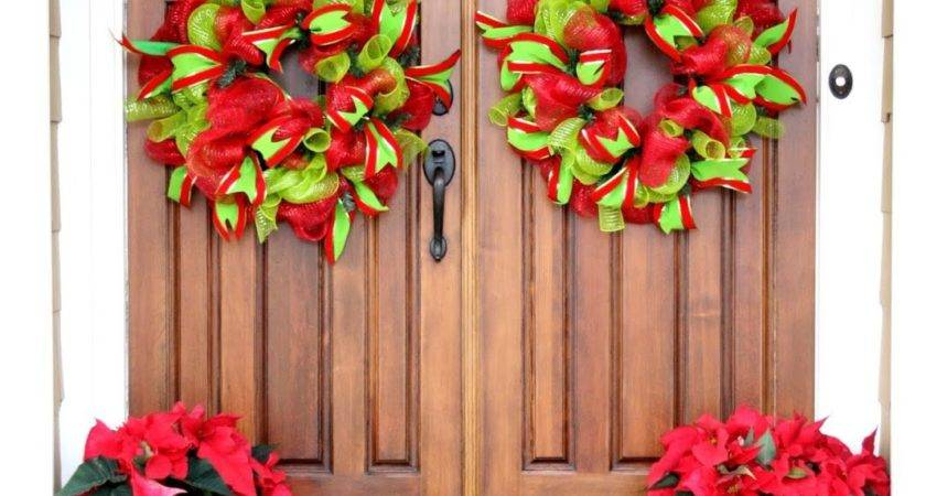 Christmas Door Decorations Happy