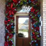 Christmas Doors Flower Ornaments Home Design