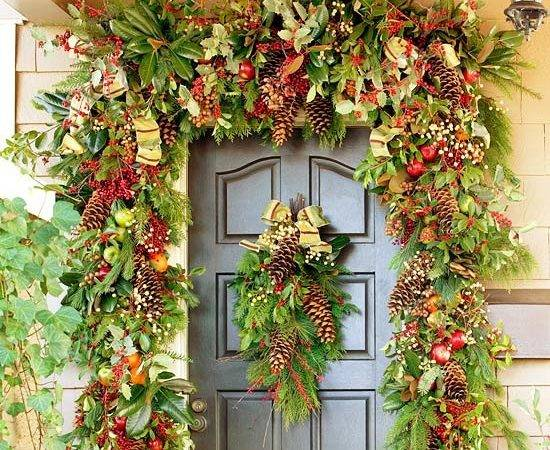 Christmas Front Door Decorations Ideas Desired Home