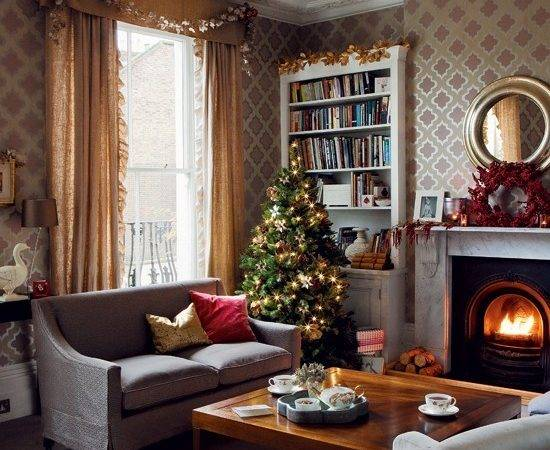 Christmas Living Room Timeless Decorating