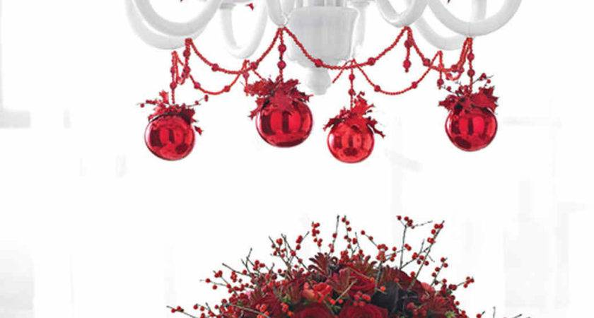 Christmas Table Chandelier Garland Bobeche Trim