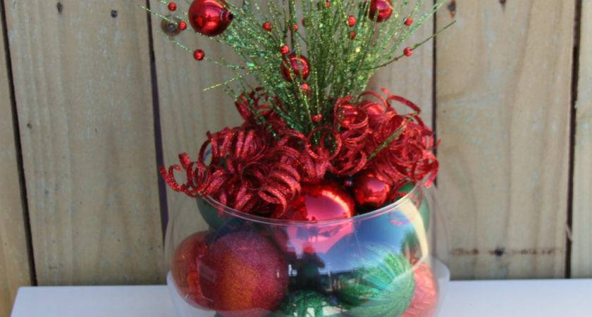 Christmas Table Decor Centerpiece Red Green Holiday
