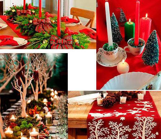 Christmas Table Decorations Photograph