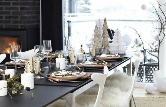 Christmas Table Decorations Scandinavian Style