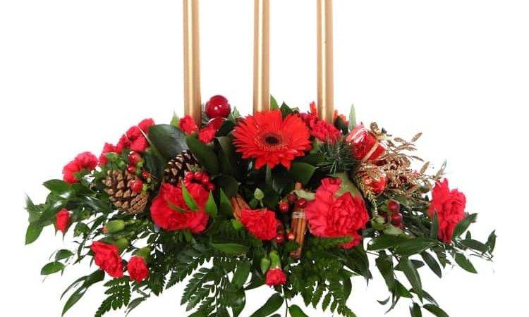 Christmas Table Display Limerick Flower Delivery