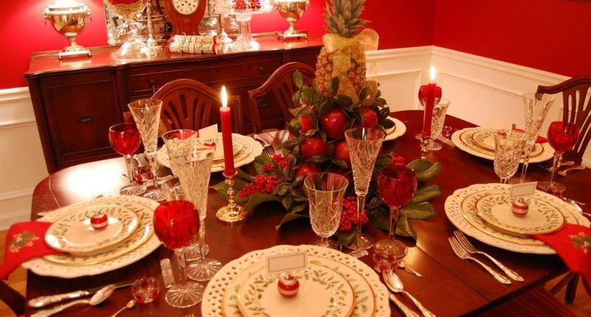 Christmas Tablescape Lenox Holiday Colonial