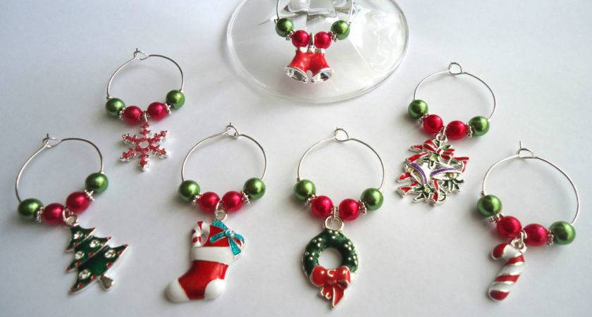 Christmas Wine Glass Charm Table Decorations Gift Idea