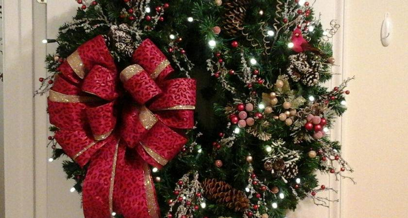 Christmas Wreath Lighted Garland Swag Shipping Included