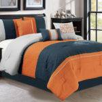 Clamshell Trellis Scroll Embossed Comforter Set
